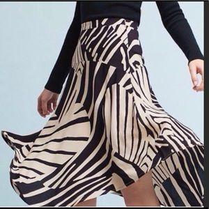NWT Anthropologie Maeve Zebra Heart Ava Skirt.